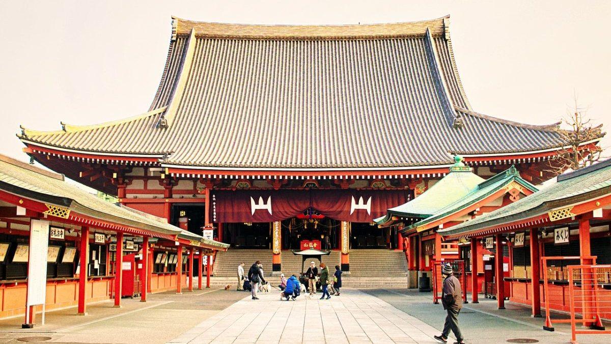東京都内最古のお寺、浅草寺のイメージ