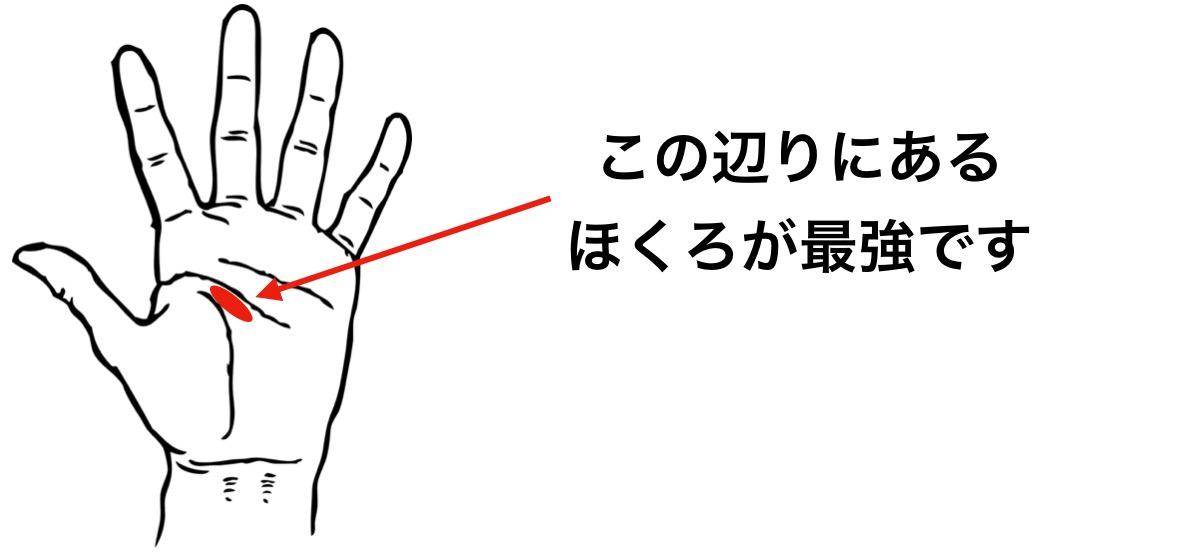 手のひらにあるほくろで一番良い位置