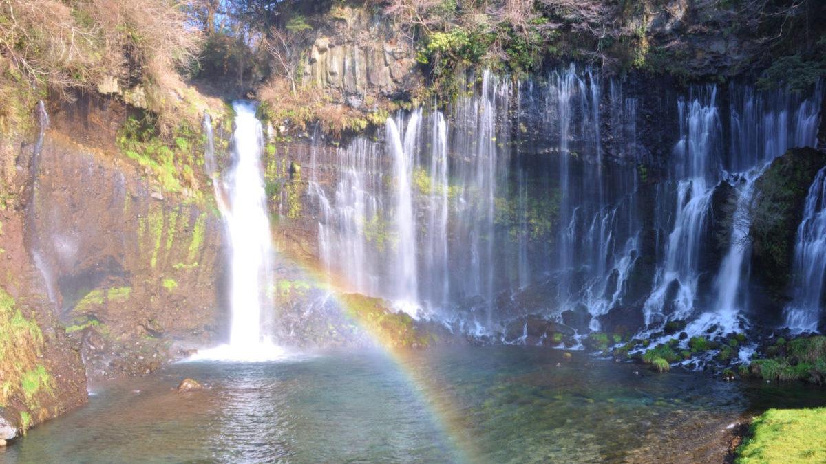 白糸の滝(しらいとのたき)で心身浄化と富士山のパワーを吸収のイメージ