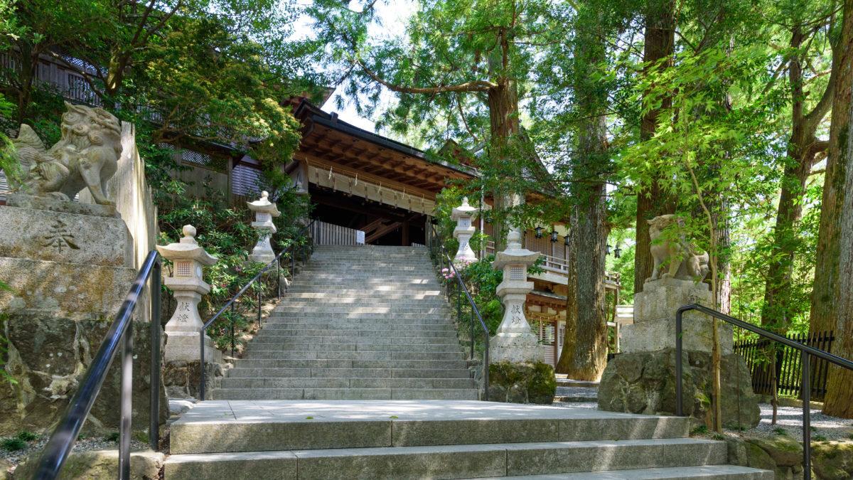 芸事の上達の御利益がある、天河神社のイメージ