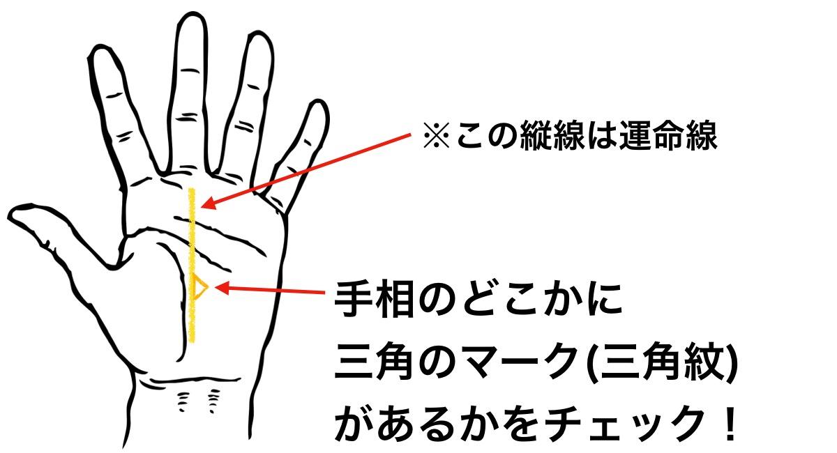 手のひらの三角のマーク(三角紋)は成功の証